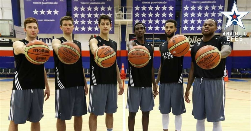 New faces for a new season at Anadolu Efes Istanbul.