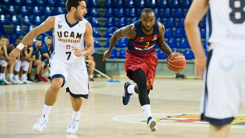 Tyrese Rice - FC Barcelona Lassa in Preseason (Photo Victor Salgado - FC Barcelona) EB16
