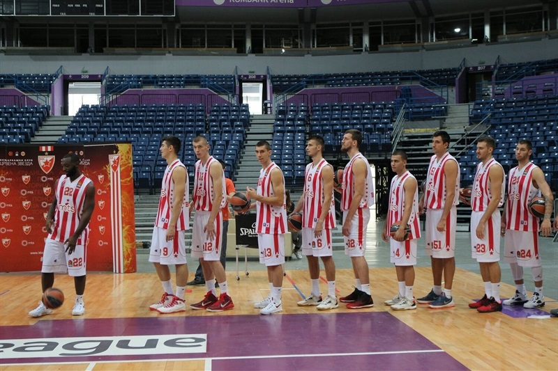 Players Crvena Zvezda mts Belgrade - Media Day 2016 - EB16