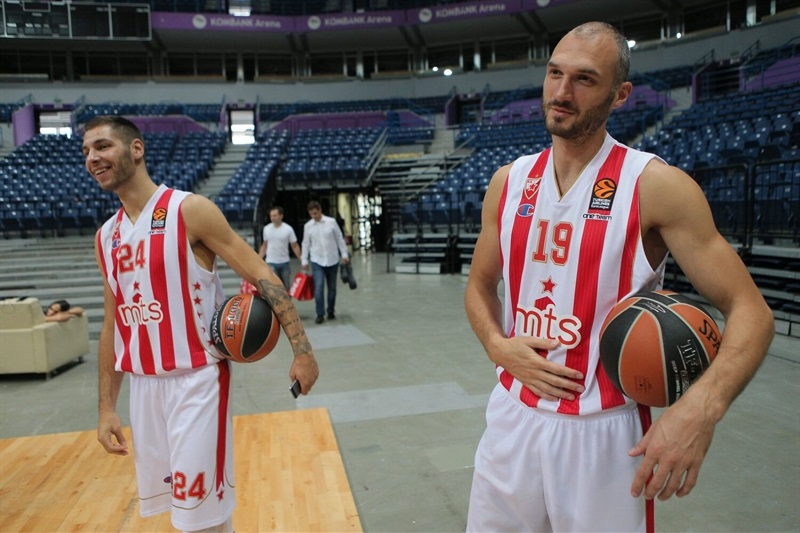 Stefan Jovic and Marko Simonovic - Crvena Zvezda mts Belgrade - Media Day 2016 - EB16