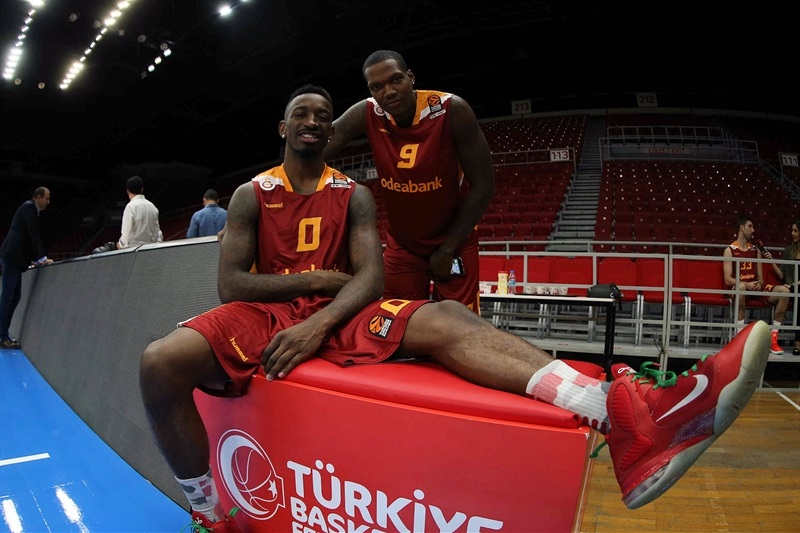 Russ Smith and Deon Thompson - Galatasaray Odeabank Istanbul - Media Day 2016 - EB16
