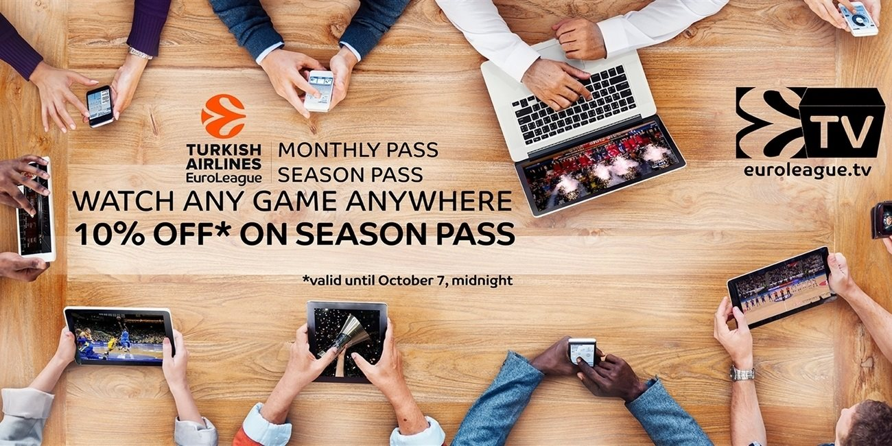 2016-17 Euroleague.TV passes on sale now!