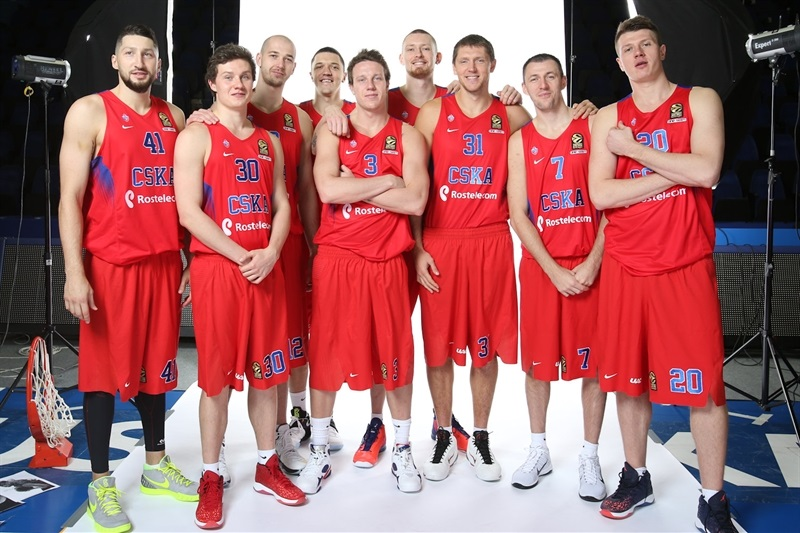 Players CSKA Moscow - Media Day 2016 - EB16