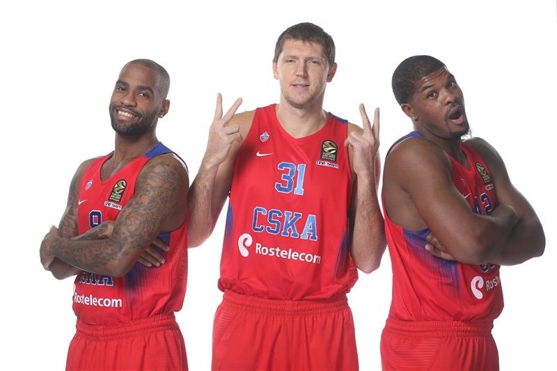 Jackson, Vorontsevich and Hines -  CSKA Moscow - Media Day 2016 - EB16