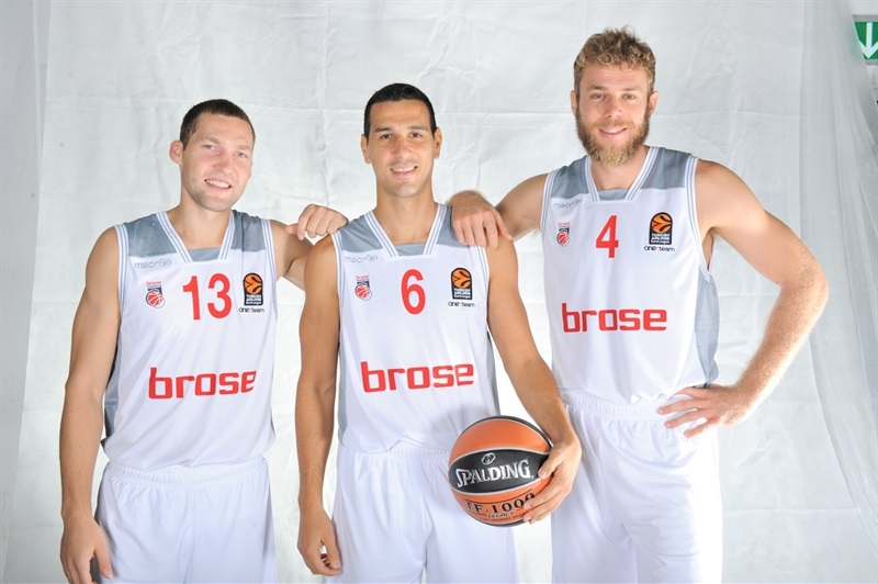 Strelnieks, Zisis and Melli - Brose Bamberg - Media Day 2016 - EB16