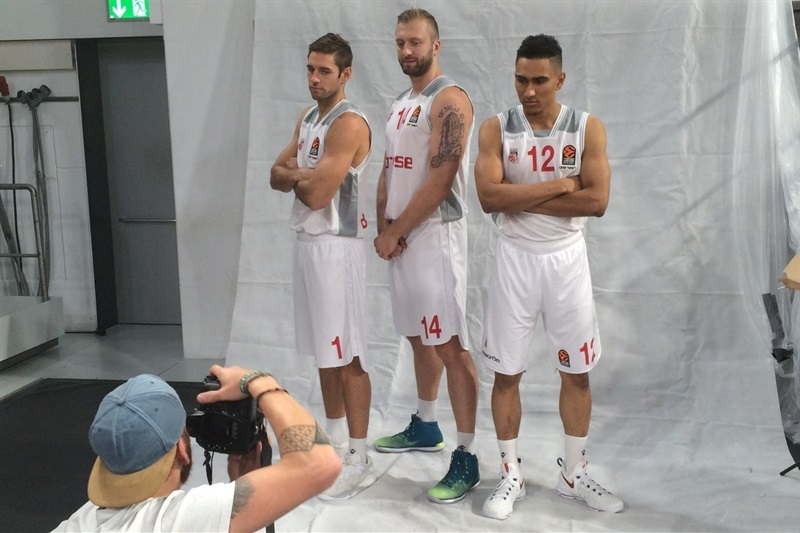 Causeur, Veremeenko and Lo - Brose Bamberg - Media Day 2016 - EB16 (photo Brose)