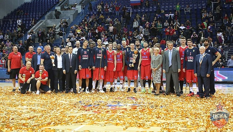 CSKA Moscow win Gomelsky Cup in preseason (photo Mikhail Serbin - CSKA Moscow)