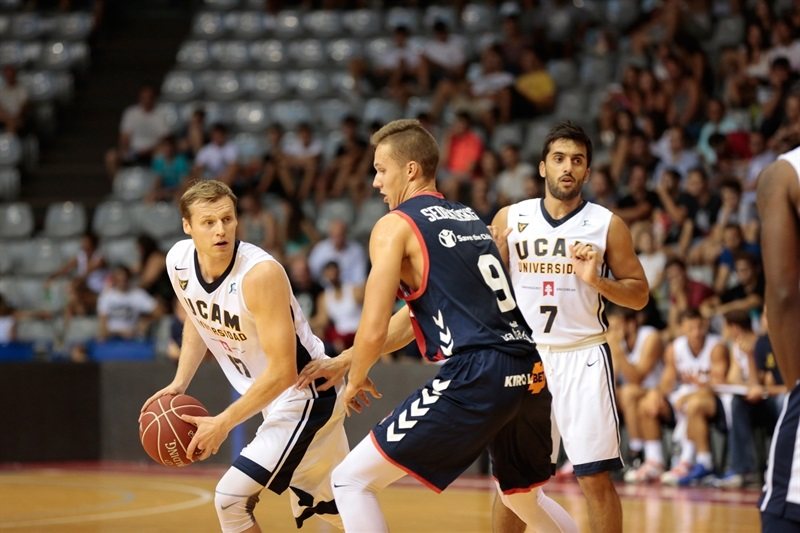 Martynas Pocius - UCAM Murcia in preseason (photo UCAM Murcia) EC16