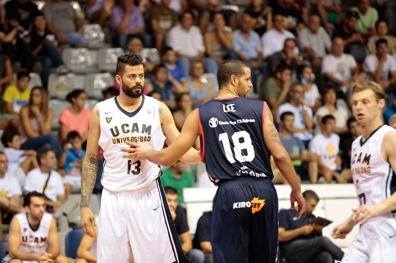 Vitor Faverani - UCAM Murcia in preseason (photo UCAM Murcia) EC16