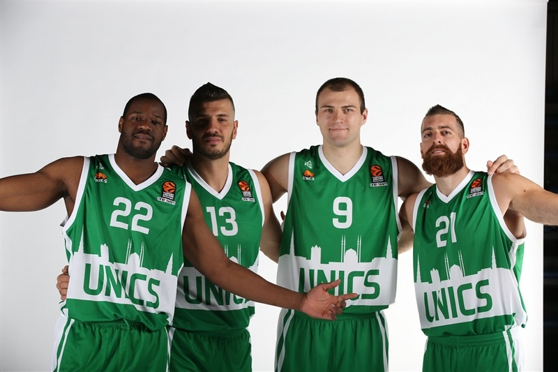 Williams, Banic, Parakhouski and Kaimakoglou - Unics Kazan - Media Day 2016 - EB16