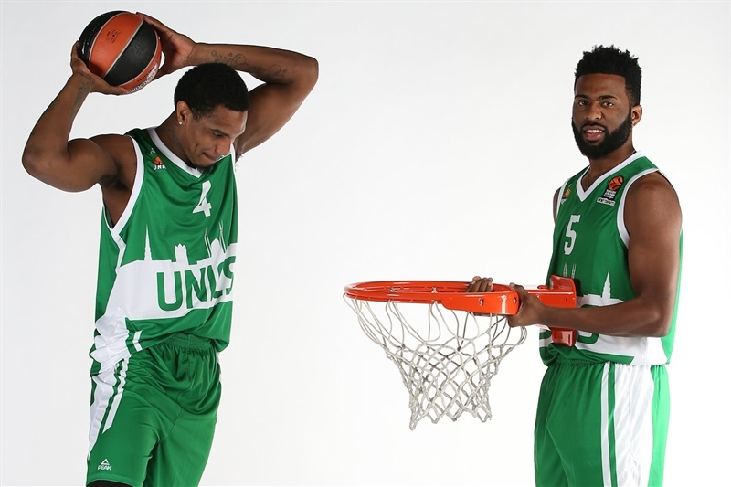 Coty Clarke and Keith Langford - Unics Kazan - Media Day 2016 - EB16
