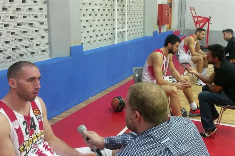 Players Olympiacos Piraeus - Media Day 2016 - EB16 (photo Olympiacos)