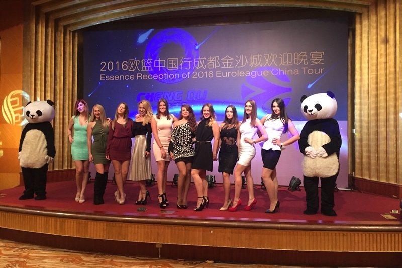 CSKA Moscow cheerleaders - China Tour 2016 - EB16