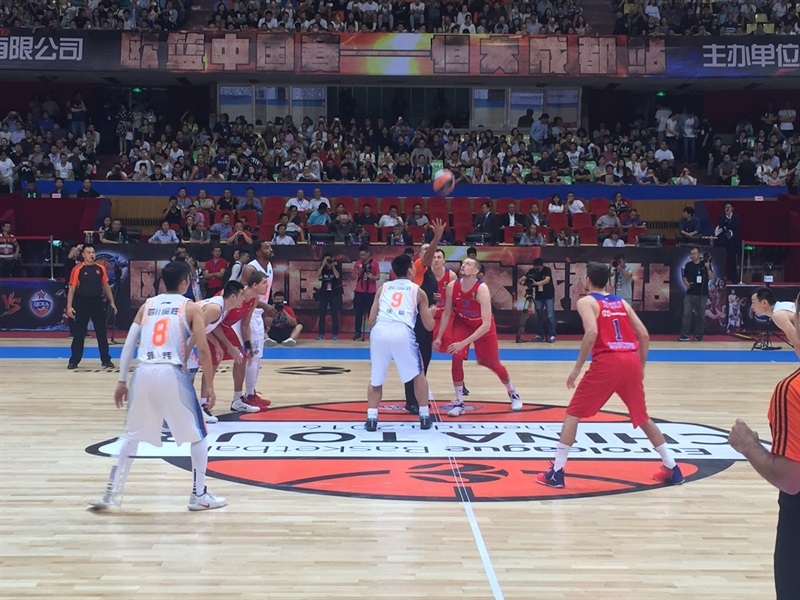 Sichuan Blue Whales vs. CSKA Moscow - China Tour 2016 - EB16