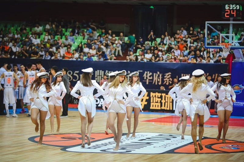 CSKA Moscow cheerleaders - Sichuan Blue Whales vs. CSKA Moscow - China Tour 2016 - EB16