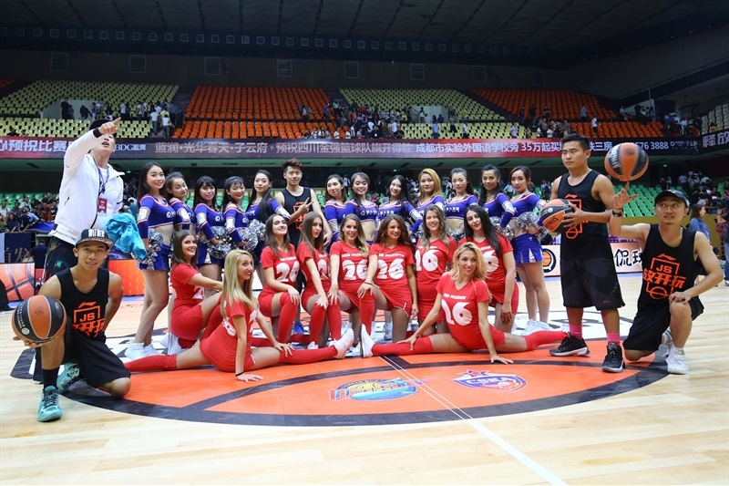 Cheerleaders teams - Sichuan Blue Whales vs. CSKA Moscow - China Tour 2016 - EB16