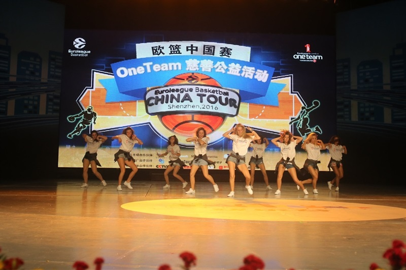 Cheerleaders Crvena Zvezda - One team in Shenzhen with players CSKA Moscow  - CSKA Moscow - China Tour 2016 - EB16