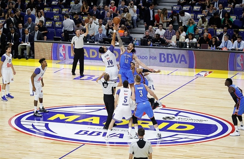 Tip-Off - Real Madrid vs. Oklahoma City - NBA Global Game 2016 - EB16 (photo Realmadrid.com)