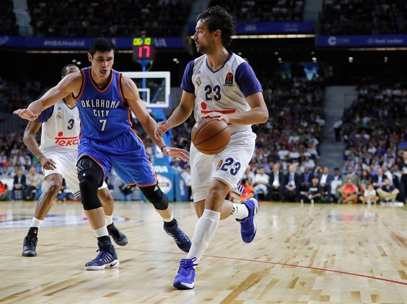Sergio Llull - Real Madrid vs. Oklahoma City - NBA Global Game 2016 - EB16 (photo Realmadrid.com)