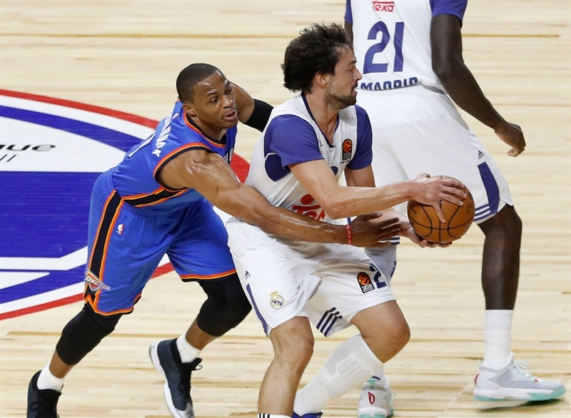 Sergio Llull - Real Madrid vs. Oklahoma City Thunder - NBA Global Game 2016 - EB16 (photo Realmadrid.com)