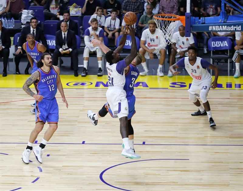 Othello Hunter - Real Madrid vs. Oklahoma City Thunder - NBA Global Game 2016 - EB16 (photo Realmadrid.com)