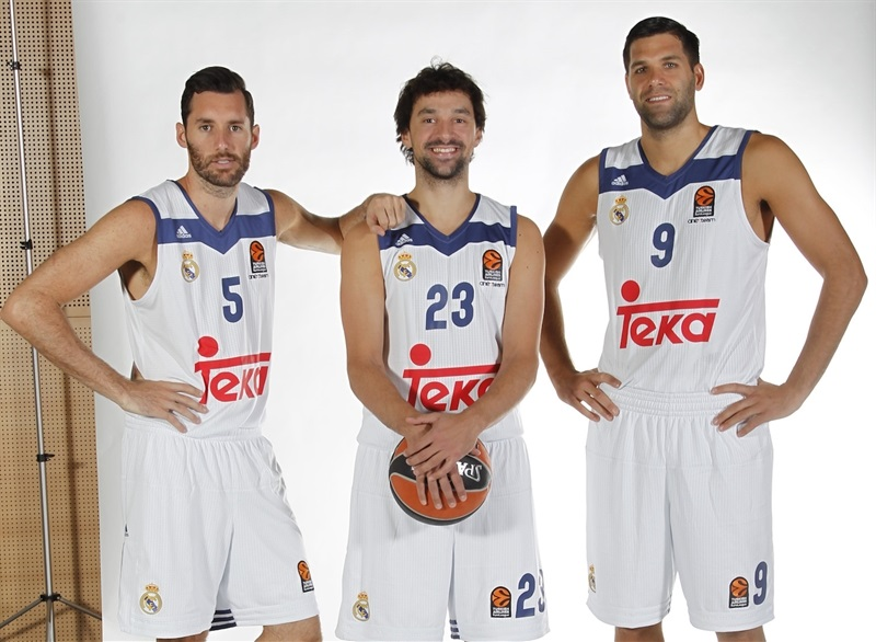 Fernandez, Llull and Reyes - Real Madrid Media Day 2016 - EB16