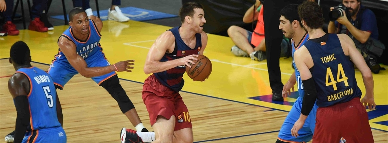 Oklahoma City edges FC Barcelona Lassa in NBA Global Games