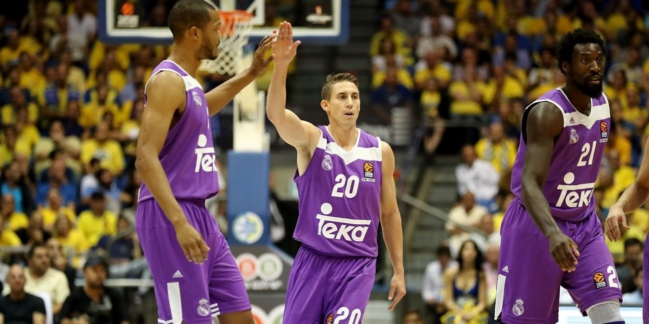 Jaycee Carroll celebrates - Real Madrid - EB16