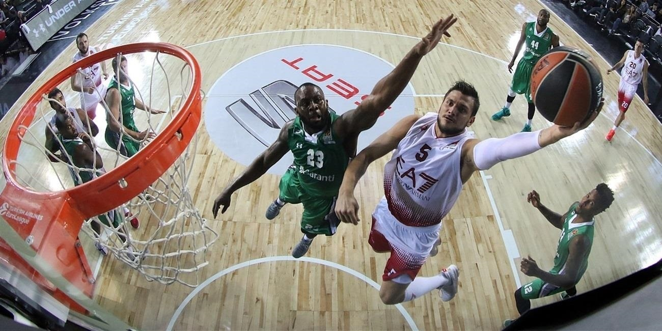 RS Round 2 report: Macvan helps Milan win at Darussafaka for 2-0 start to season
