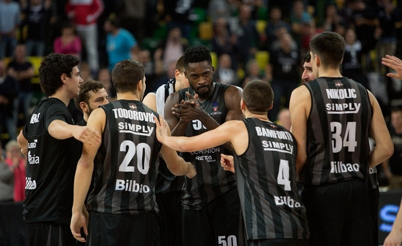 Michael Eric - Dominion Bilbao Basket celebrates - EC16 (photo Bilbao Basket - Aitor Arrizabalaga)