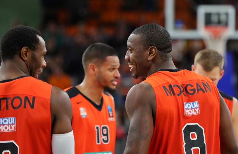 Raymar Morgan celebrates - ratiopharm Ulm - EC16 (photo Florian Achberger - Ratiopharm Ulm)