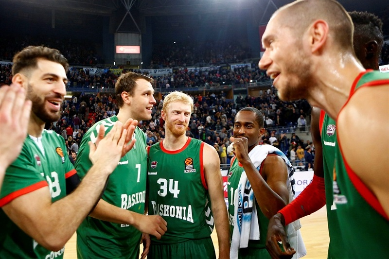 Players Baskonia Vitoria Gasteiz celebrates - EB16