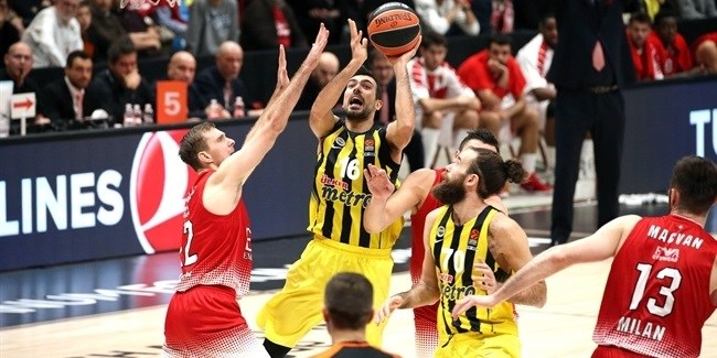 RS Round 9 report: Fenerbahce uses big fourth quarter to down Milan