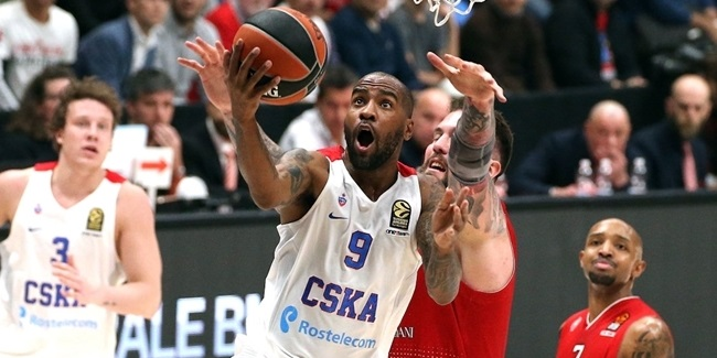 Regular Season Round 11: CSKA impresses in Milan without Teodosic, De Colo