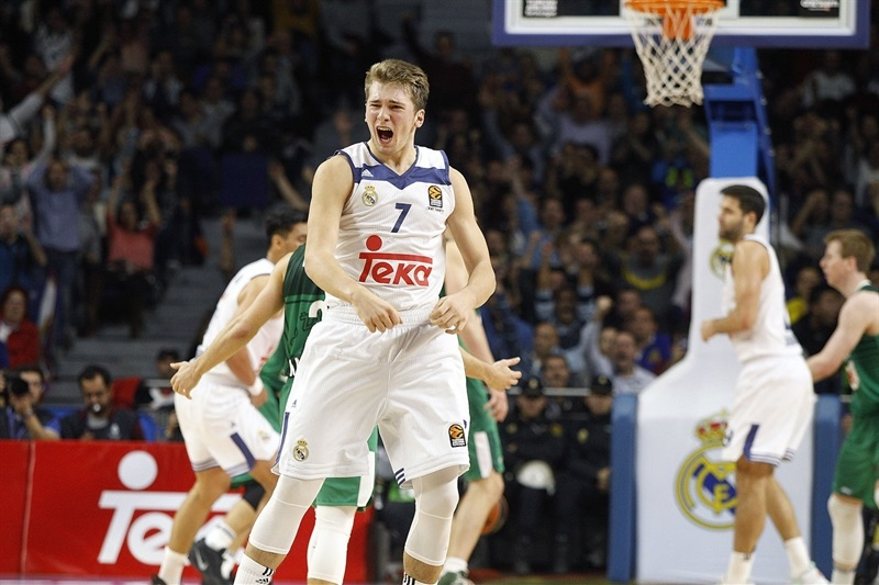 Luka Doncic celebrates - Real Madrid - EB16
