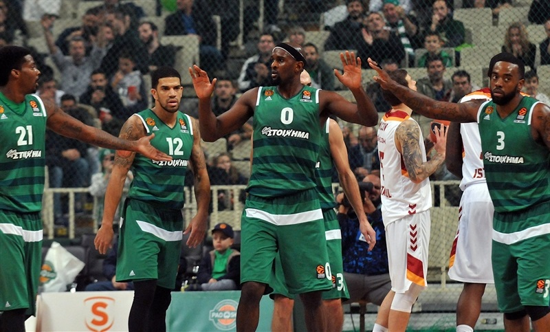 Chris Singleton celebrates - Panathinaikos Superfoods Athens - EB16