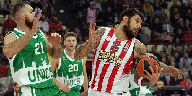 Regular Season Round 11: Olympiacos defense routs Unics