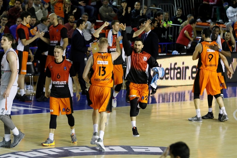 Players Montakit Fuenlabrada celebrates - EC16 (photo Fuenlabrada)