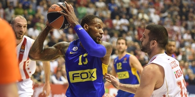 Regular Season, Round 12: Crvena Zvezda mts Belgrade vs. Maccabi FOX Tel Aviv