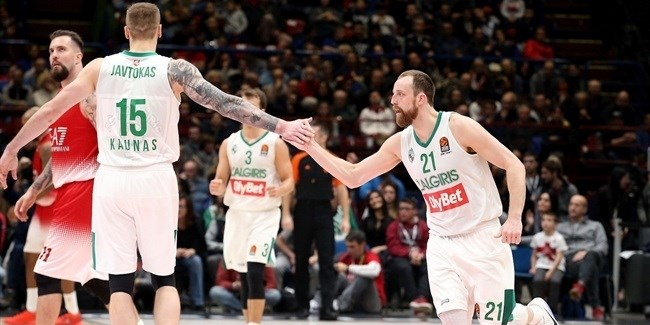 Regular Season Round 15: Fourth quarter heroics deliver Zalgiris victory in Milan