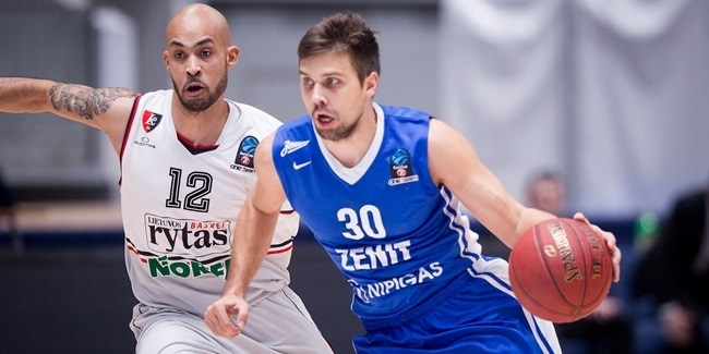 Top 16, Round 2 report: Timma's hot hand leads Zenit St. Petersburg over Rytas