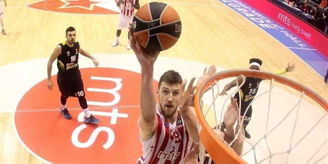 Turkish Airlines EuroLeague MVP for January: Ognjen Kuzmic, Crvena Zvezda mts Belgrade