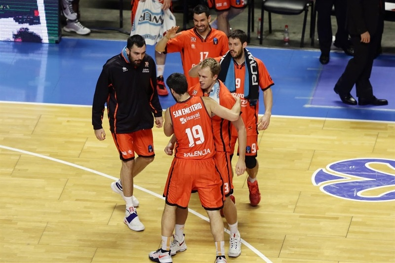 Valencia Basket celebrates - EC16 (photo Unicaja - Mariano Pozo)