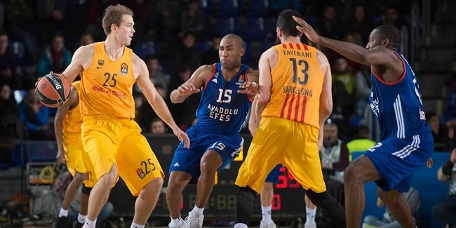 Regular Season Round 18: Koponen, Faverani help Barcelona over Efes