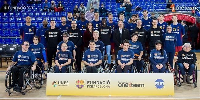 Barcelona One Team participants enjoy game-day experience at Palau Blaugrana