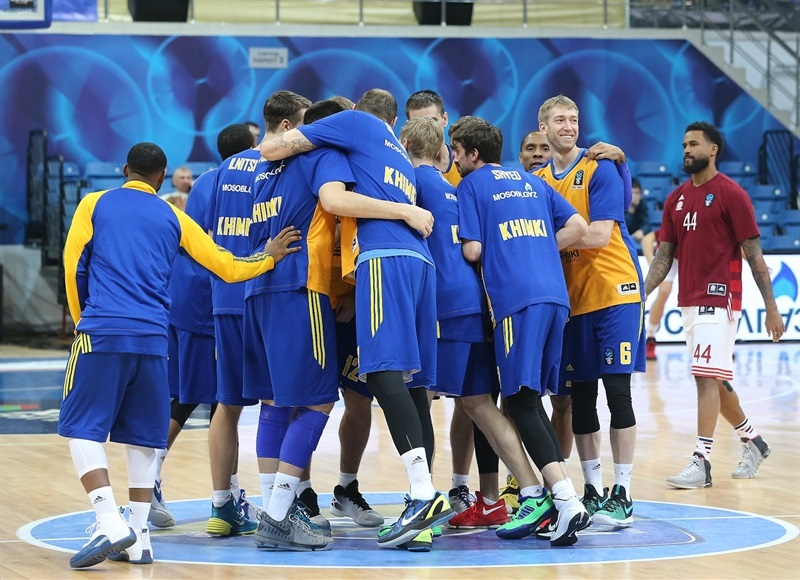 Players Khimki Moscow Region - EC16 (photo Evgeny Solodov - Khimki)