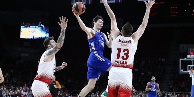 Regular Season Round 22: Anadolu Efes erases 19-point deficit to edge Milan