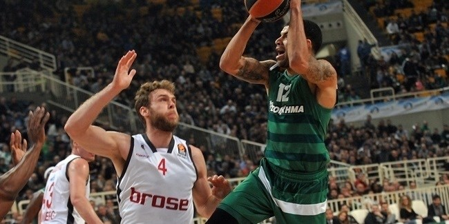 Regular Season, Round 22: Panathinaikos Superfoods Athens vs. Brose Bamberg