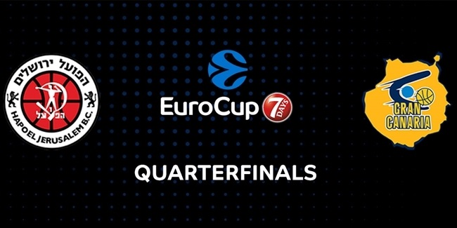 Quarterfinals at a Glance: Hapoel Bank Yahav Jerusalem vs. Herbalife Gran Canaria Las Palmas