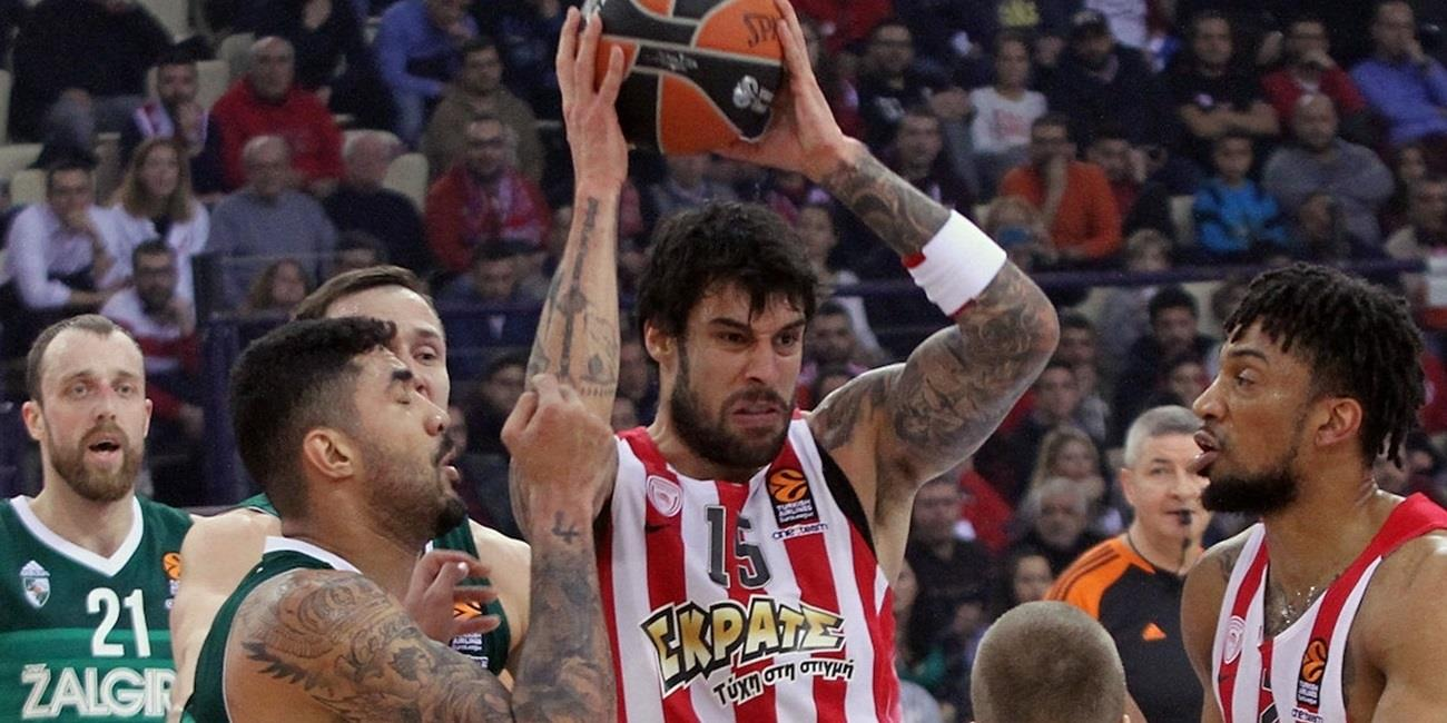 Regular Season Round 22: Olympiacos keeps winning, downs Zalgiris